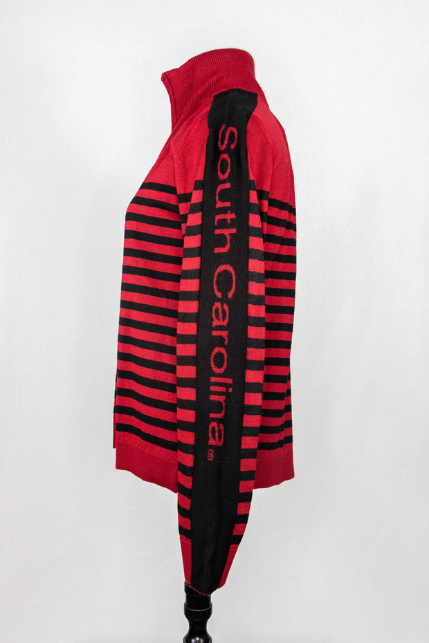 ES Zip Stripe Cardigan