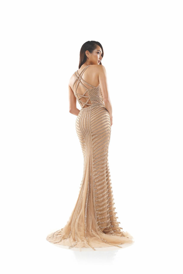 CO Crystal Mesh Gown