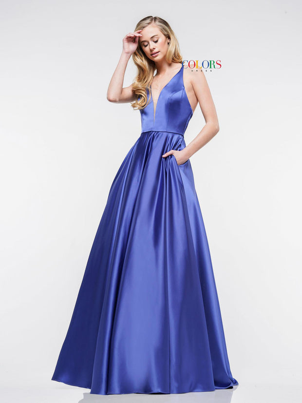 CO Strappy Satin Ball Gown