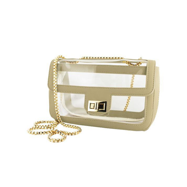 CD Clear Lined Chain Satchel
