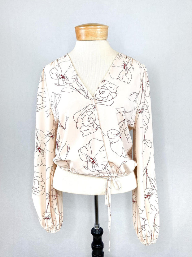 PH Floral V-Tie Top