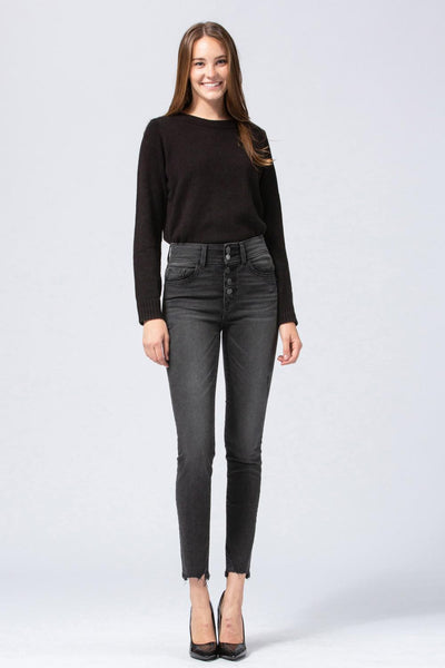 FLY Button Skinny Jean