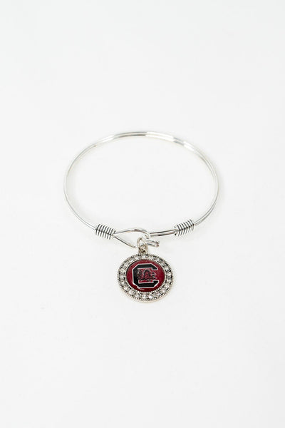 ES Crystal Charm Bangle