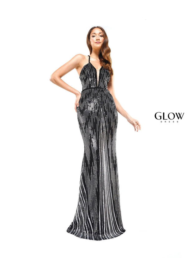CO Strappy Sequin Gown
