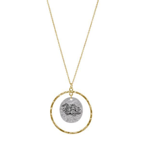 ES GC Stacked Disk Necklace