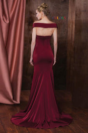 CO Shoulder Wrap Gown