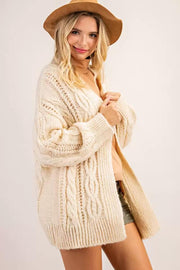 143 Cable Knit Cardigan