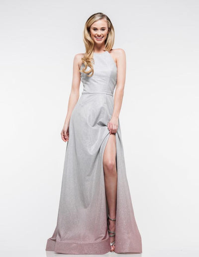 CO Ombre Slit Gown