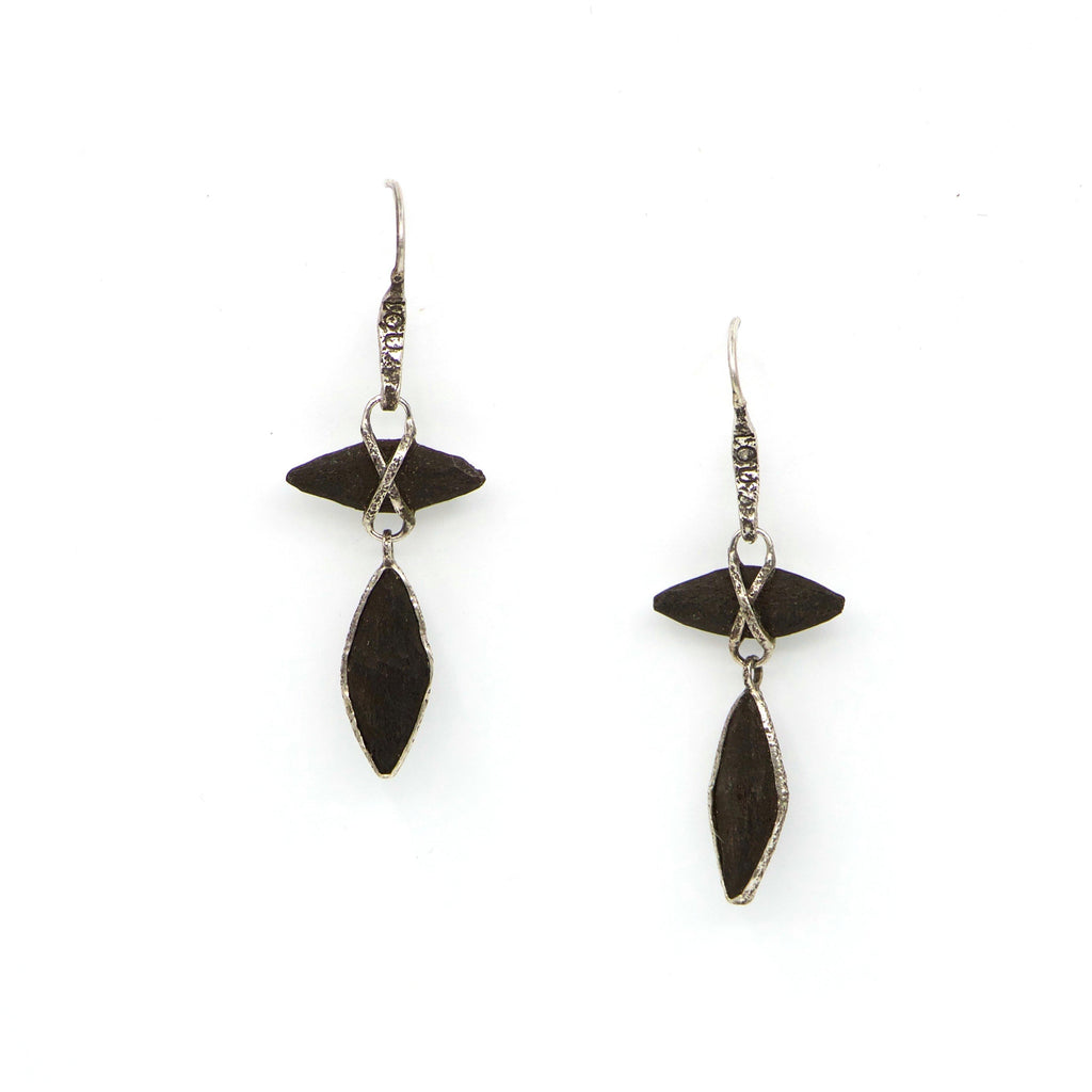 Earrings.. sterling silver - The LoU Zeldis Collection....