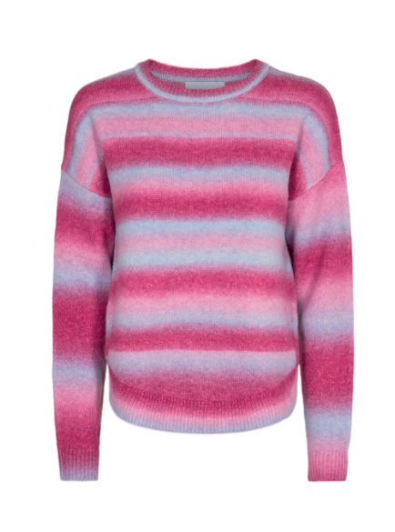 Billi Pullover  -  Light blue pink stibe