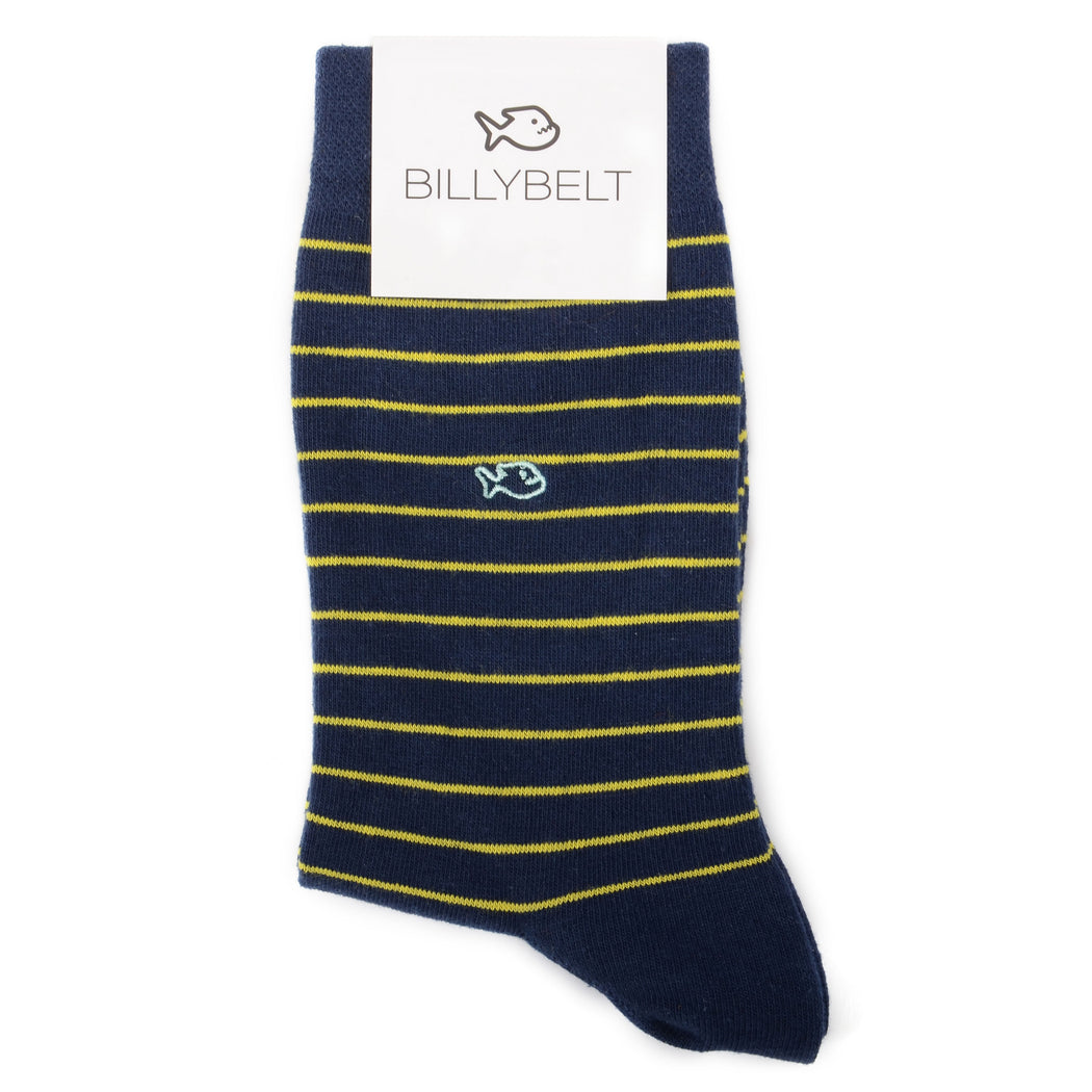 Calcetines Rayas Navy/Yellow - Biels Online