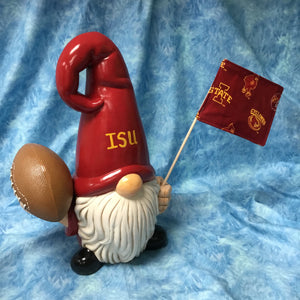 Nordic Gnome with Football & Flag (flag may vary)