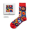 Color Study. Squares with Concentric Circles by Wassily Kandinsky colorful art socks artsocks