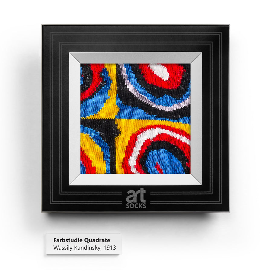 Color Study. Squares with Concentric Circles by Wassily Kandinsky colorful art socks artsocks frame