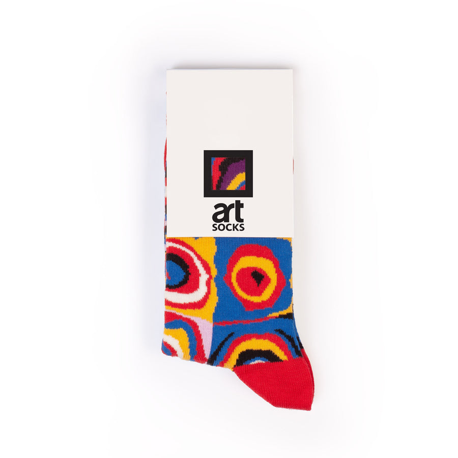 Color Study. Squares with Concentric Circles by Wassily Kandinsky colorful art socks artsocks label