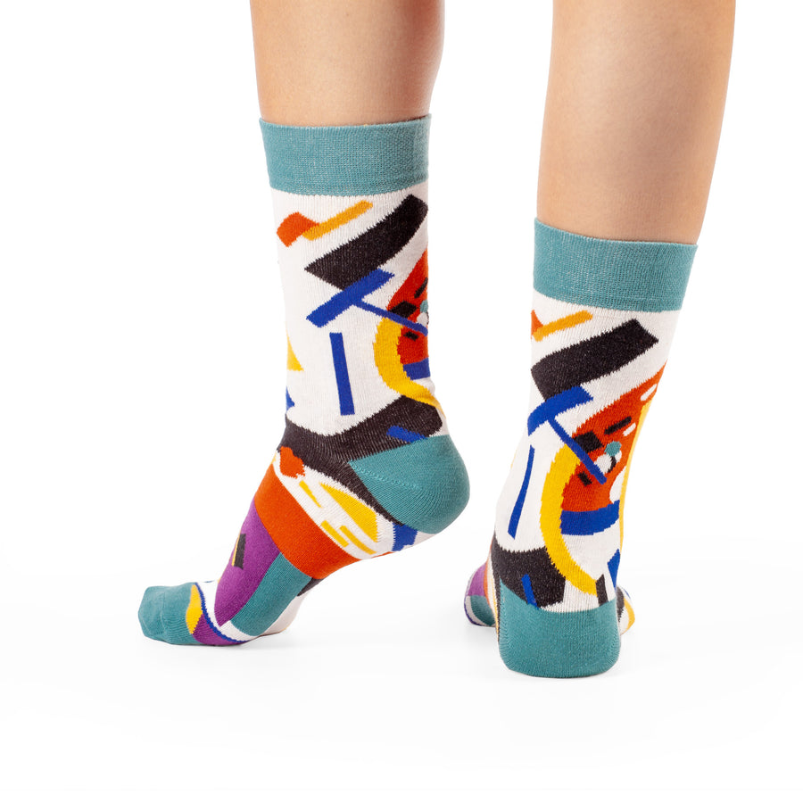 Suprematism by Kazimir Malevich colorful art socks artsocks