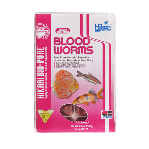 Hikari Blood Worm Blister Pack 4oz