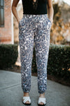 Leopard Print Knit Pants