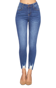 High Rise Ankle Stretch Jeans