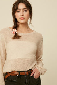 Cropped Pullover Sweater
