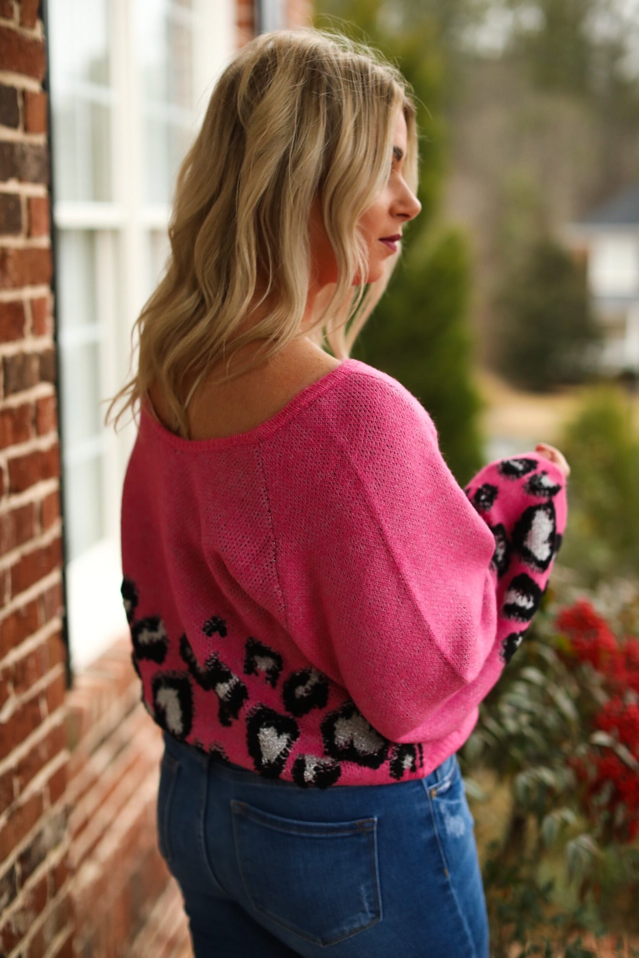 Leopard Puff Sleeve Sweater