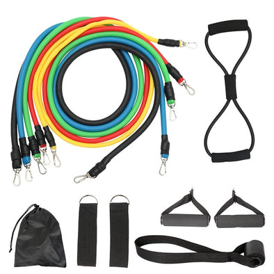 12Pcs/Set Latex Resistance Bands Crossfit Training Exercise