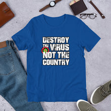 "Load image into Gallery viewer, ""Destroy the Virus"" Unisex T-Shirt"