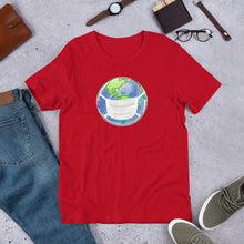 "Load image into Gallery viewer, ""World Masked"" Unisex T-Shirt"