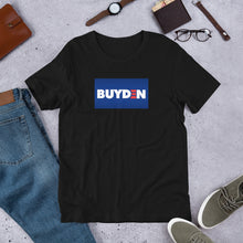 "Load image into Gallery viewer, ""BUY-DEN"" Short-Sleeve Unisex T-Shirt"