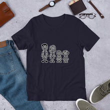 "Load image into Gallery viewer, ""Masked Stick Family"" Men's T-Shirt"