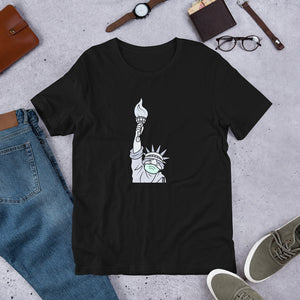 """Statue of Liberty Masked"" Unisex T-Shirt"