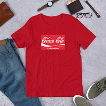 "Load image into Gallery viewer, ""Corona-Cola"" Short-Sleeve Unisex T-Shirt"