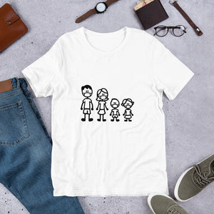 """Masked Stick Family"" Men's T-Shirt"