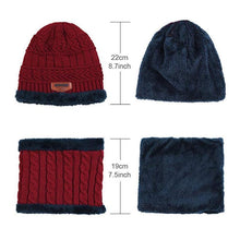 Load image into Gallery viewer, Warm Beanie Cap With Scarf