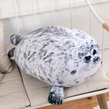 Load image into Gallery viewer, Fluffy Plush Seal Pillow