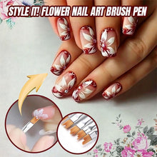 Load image into Gallery viewer, Flower Nail Art Brush Pen (8 pcs)