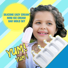 Load image into Gallery viewer, Silicone Easy Cream Mini Ice Cream Bar Mold Set