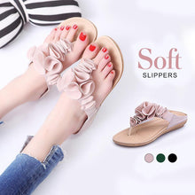 Load image into Gallery viewer, Women Beach Soft Suede Flower Flip Flops Flat Slippers