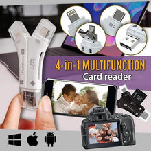 Load image into Gallery viewer, 4-in-1 Portable Memory Card Reader For Phones