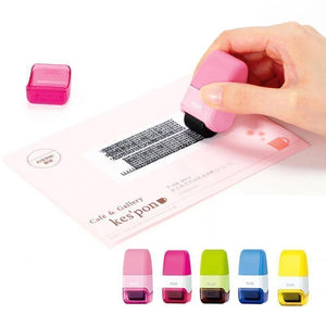 Self-Inking Seal Roller Stamp