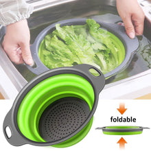 Load image into Gallery viewer, Round Foldable Drain Basket