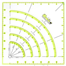Load image into Gallery viewer, Arcs & Fans Quilt Circle Cutter Ruler