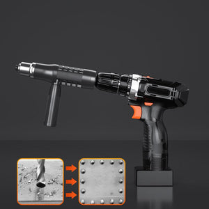 【🔥50% OFF🔥】Professional Rivet Gun Adapter Kit 🛠With 4Pcs Different Nozzle Bolts
