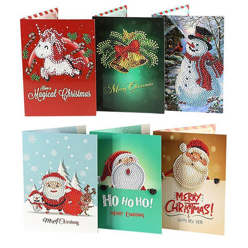Christmas Card Diamond Picture, Set of 8 Patterns