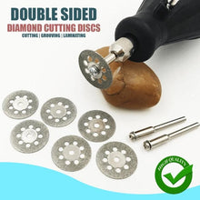 Load image into Gallery viewer, Diamond Cutting Wheel Set (10 PCs and 2 Rods)