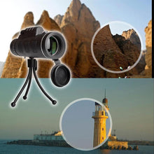 Load image into Gallery viewer, 12X50 High Power Monocular Telescope With Smartphone Adapter and Tripod
