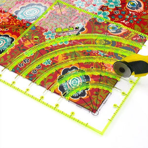 Arcs & Fans Quilt Circle Cutter Ruler