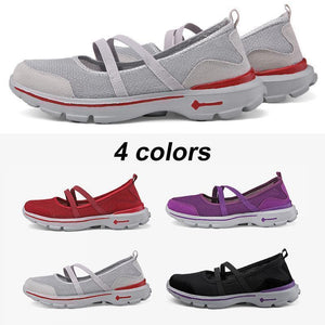Women's breathable mesh flat shoes