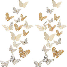 Load image into Gallery viewer, Butterfly Decorations 3D Wall Decals