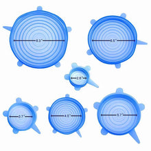 Load image into Gallery viewer, Hirundo Silicone Stretch lid, 6PCS (Blue)